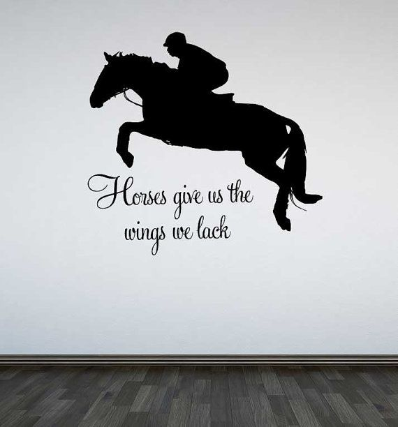 Jumping Horse Wall Decal Horses Give Us The By TheWallStickerComp - Wall decals horses