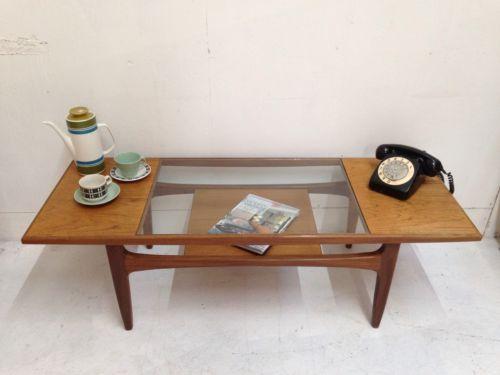 Vintage Retro G Plan Teak Gl Top Coffee Table 1960s Mid Century