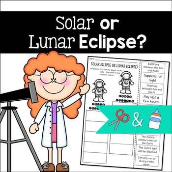 Solar Eclipse Or Lunar Eclipse Cut And Paste Sorting Activity
