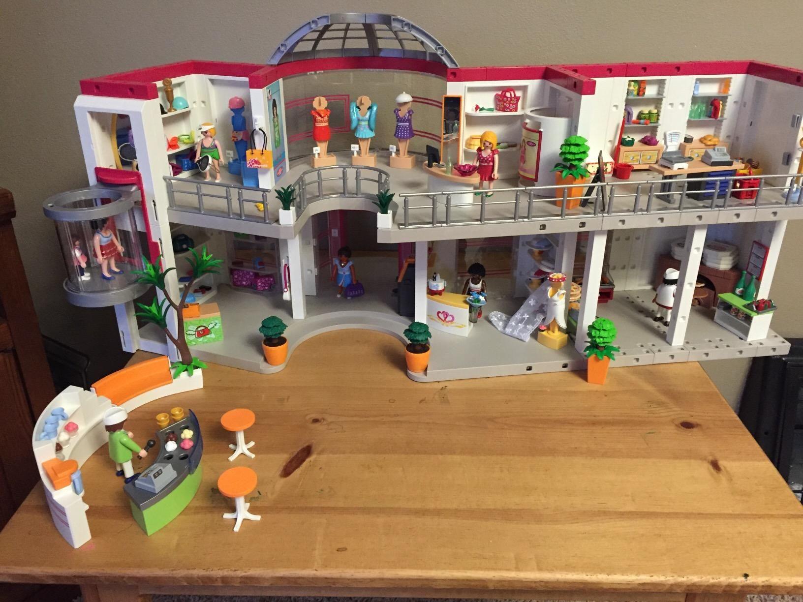 amazon playmobil furnished shopping mall playset