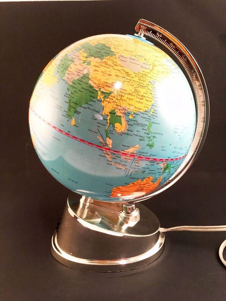 word globe rotating with light ebay pinterest globe and ebay