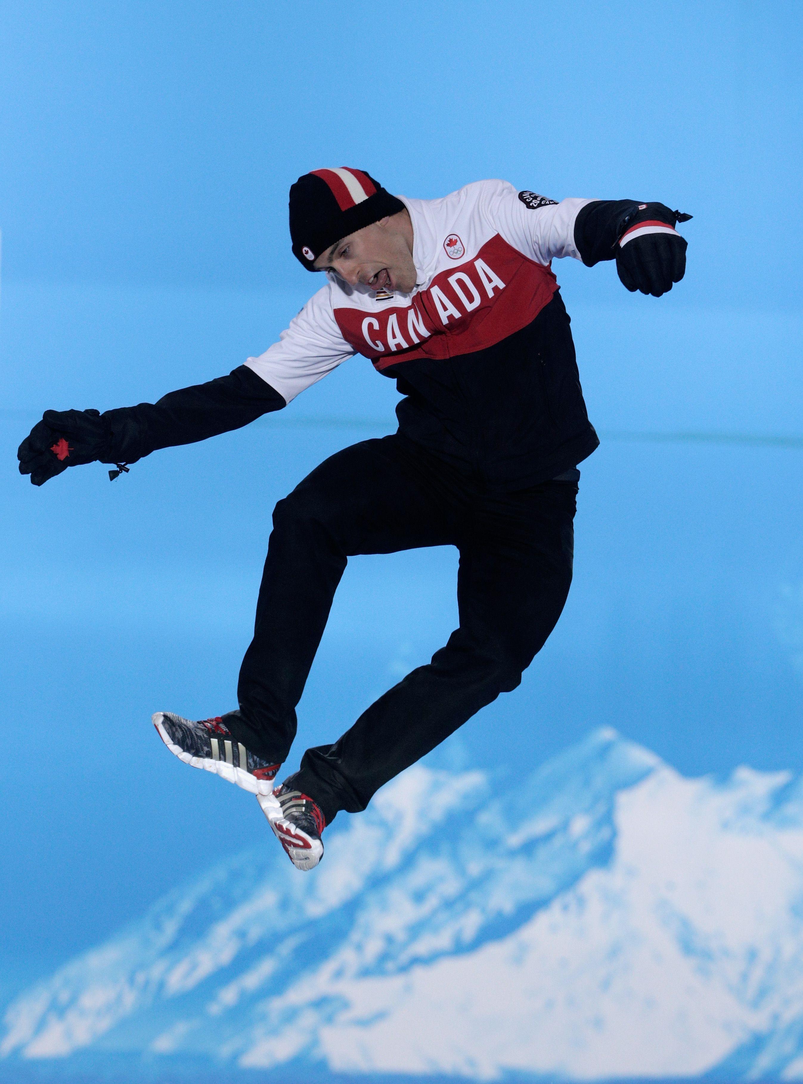 Bronze Medalist Denny Morrison Of Canada Celebrates On The