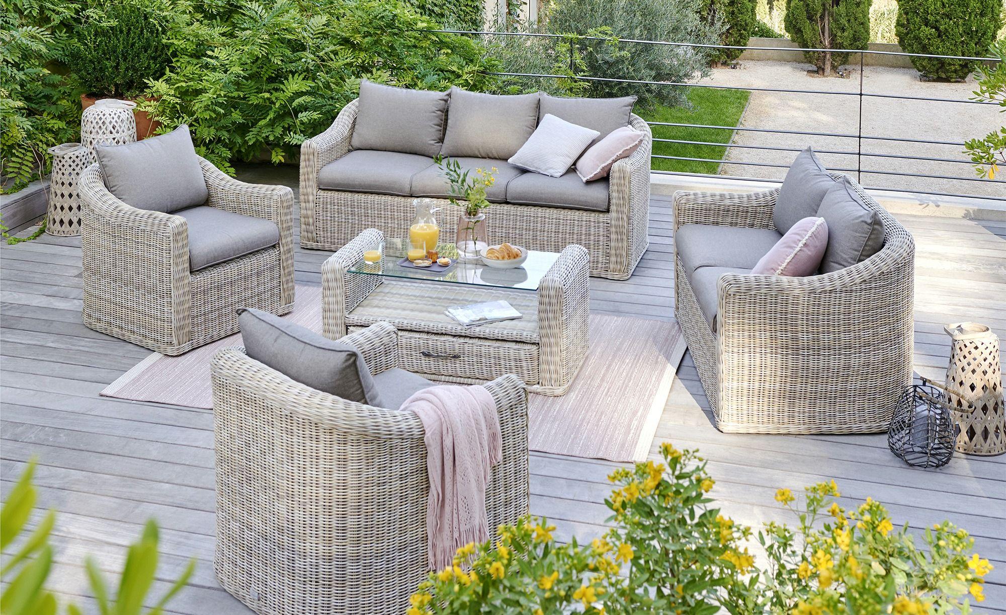 A Casa Mia Sessel Rattan Sylt 1 Creme Braun Gartensofa Outdoor Sessel Outdoor Teppich