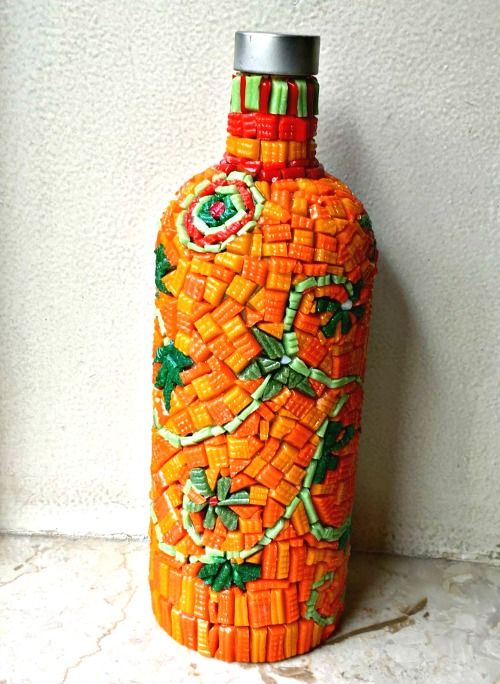 Glass Bottle Decoration Decorative Mosaic Glass Bottle  How To Make A Bottle Lamp