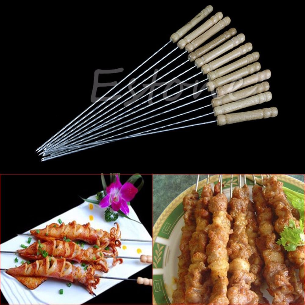 1 Set New Hot Fashion BBQ Barbecue Skewer Grill Kabob