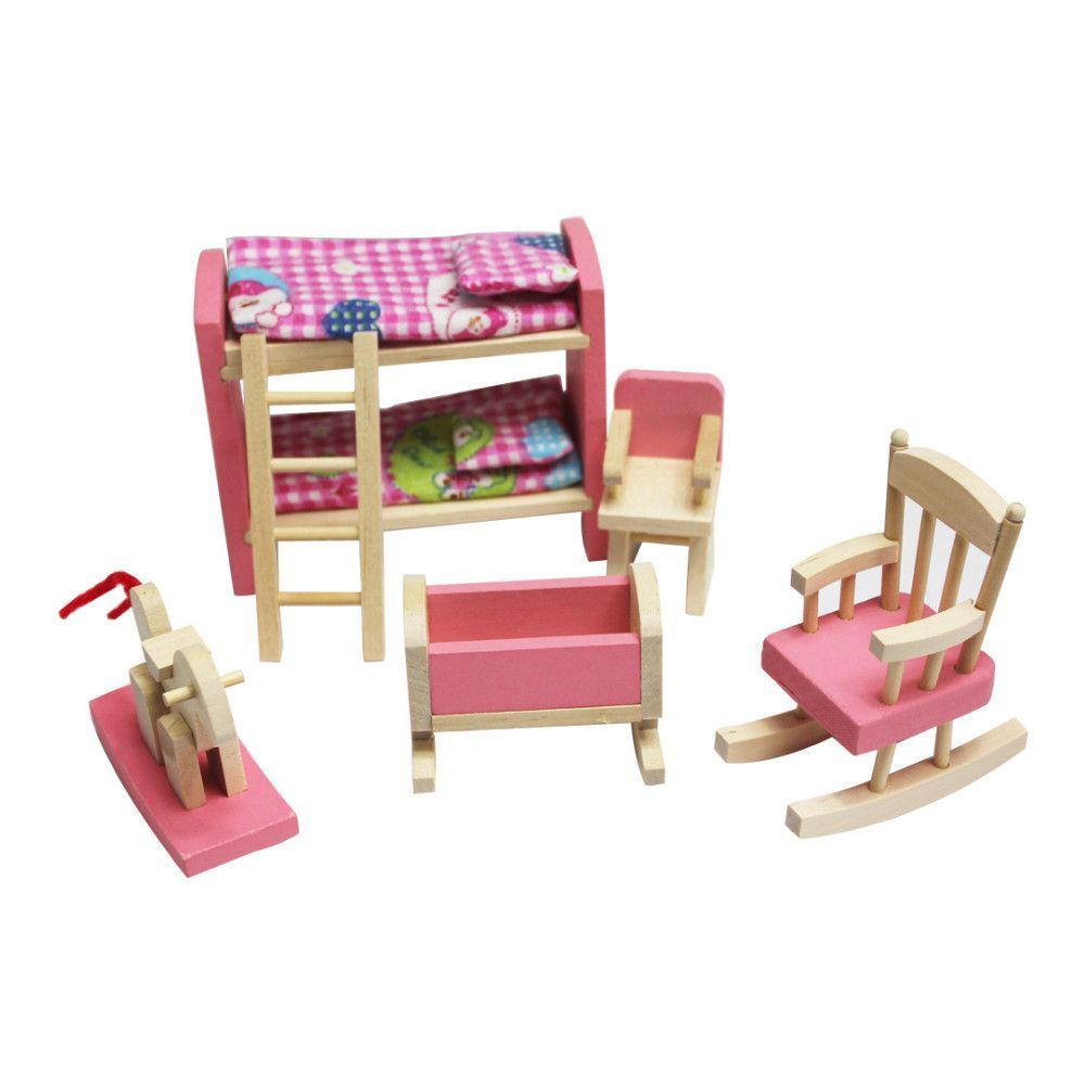 Dollhouse Furniture  Bunk Bed Set 14