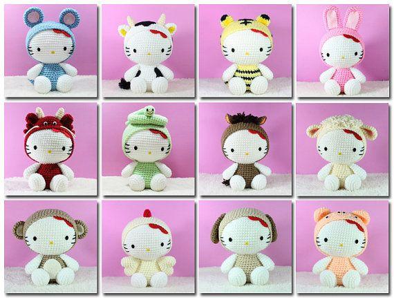 Big Hello Kitty Amigurumi Free Pattern | Hello kitty crochet ... | 431x570