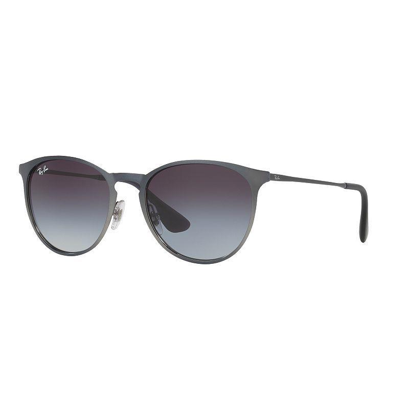 b66dbcfb112f79 Lunettes A Monture Ronde · Verre Rond · Cadres Métalliques · Ray-Ban RB3539  54mm Erika Pilot Gradient Sunglasses, Light Grey