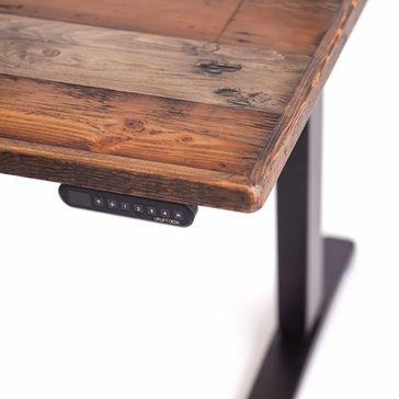 Shop Uplift Reclaimed Wood Stand Up Desks Starts At 949 Stand Up Desk Wood Stand Sit Stand Desk