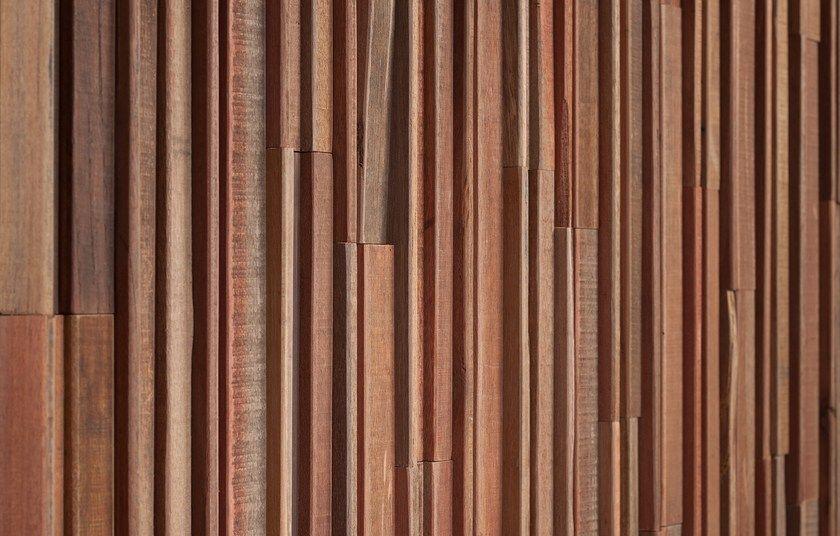 Panel de pared 3D de madera para interiores y exteriores BARROW by ...
