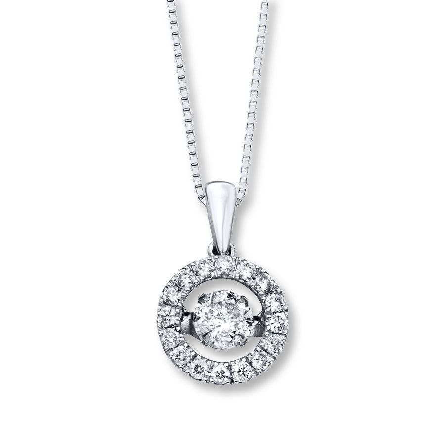 aa1470f2a kay jewelers diamond necklaces | Kay - Diamonds in Rhythm 1 ct tw Necklace  14K White Gold