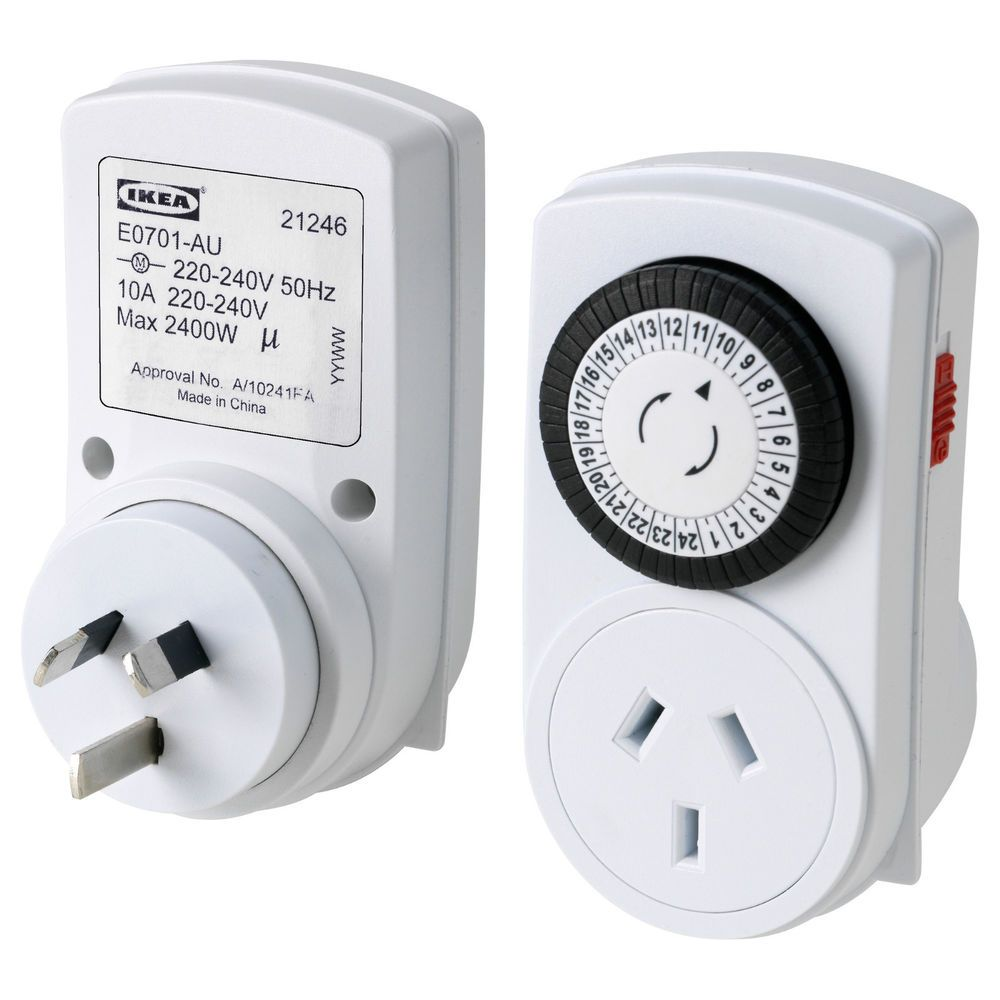 2 IKEA Timers 24hr Electrical Power Timer Switch Tanda