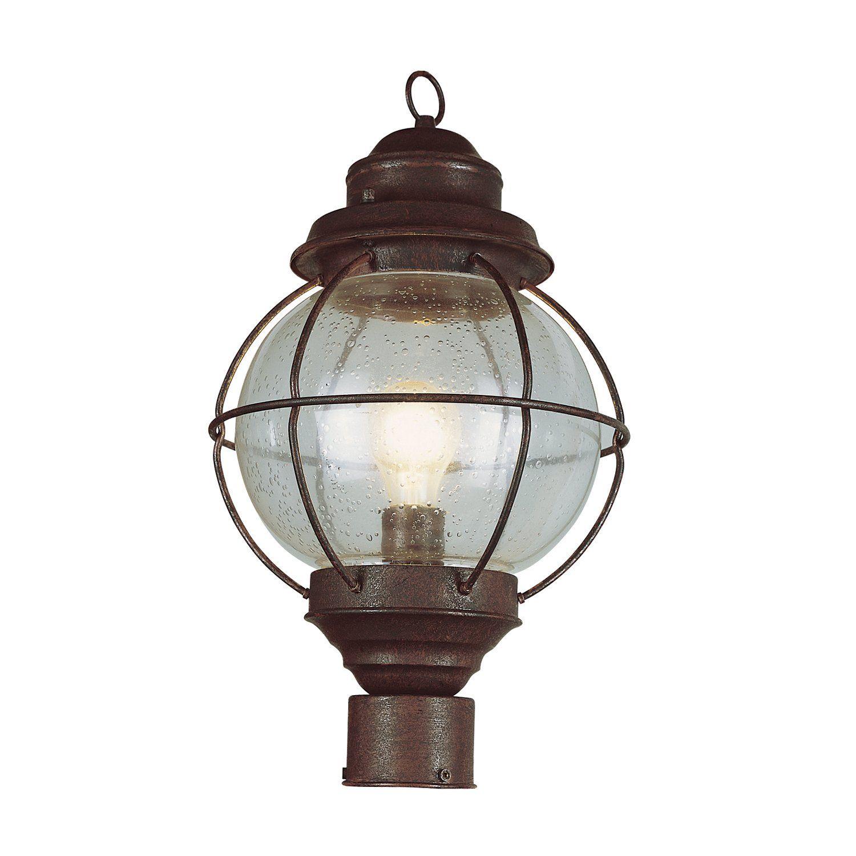 Onion Lantern Post Top In Rustic Bronze Trans Globe Lighting 69905 Rbz