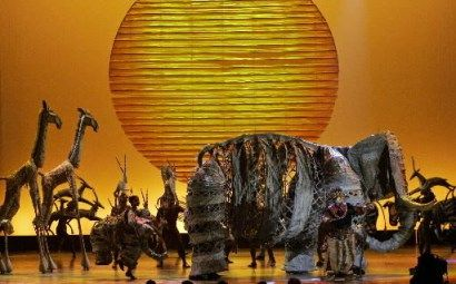 Kostuums Lion King.The Lost Boy Goes To The Theatre The Lion King Natural