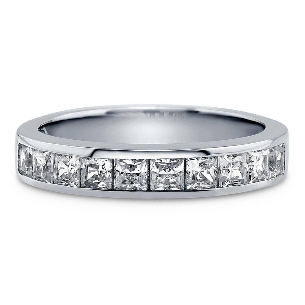 Silver Cz Set Half Eternity Ring 8jaM37p9