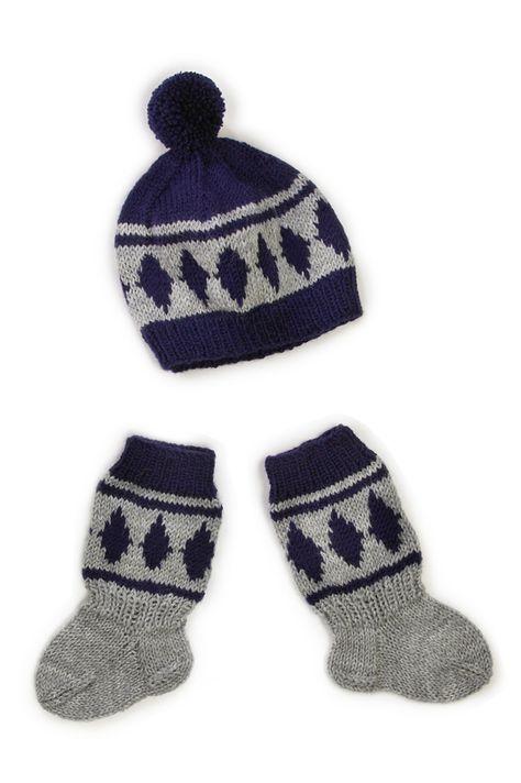 Vauvan myssy ja sukat Novita Nalle   Novita knits