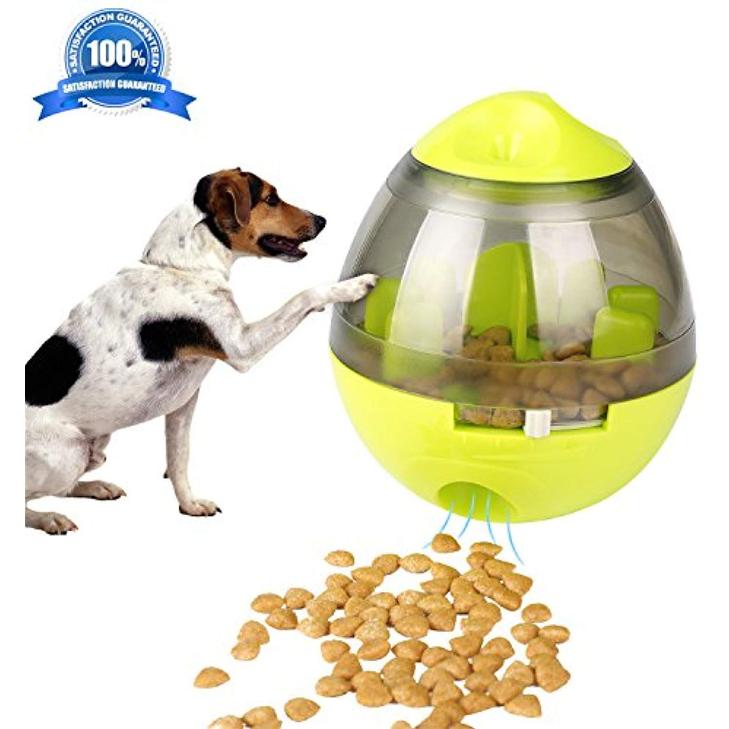 Airsspu Dog Toy Treat Ball Interactive Food Dispenser Ball Toy