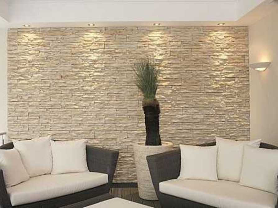 Natural Stacked Stone Veneer Interior Wall Cladding Ideas : Home