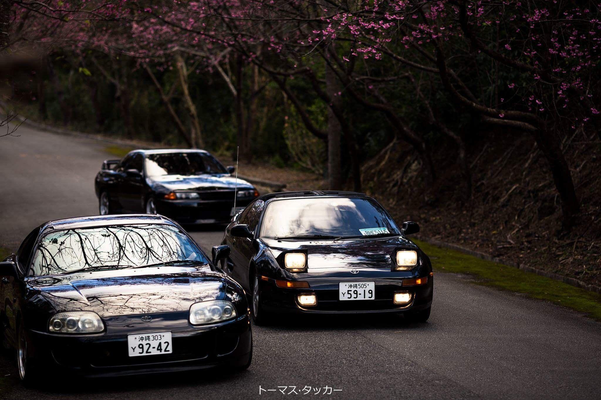 Jdm · Tree Amigos. Toyota Supra, MR2, Nissan R32 GTR Okinawa HD Wallpaper