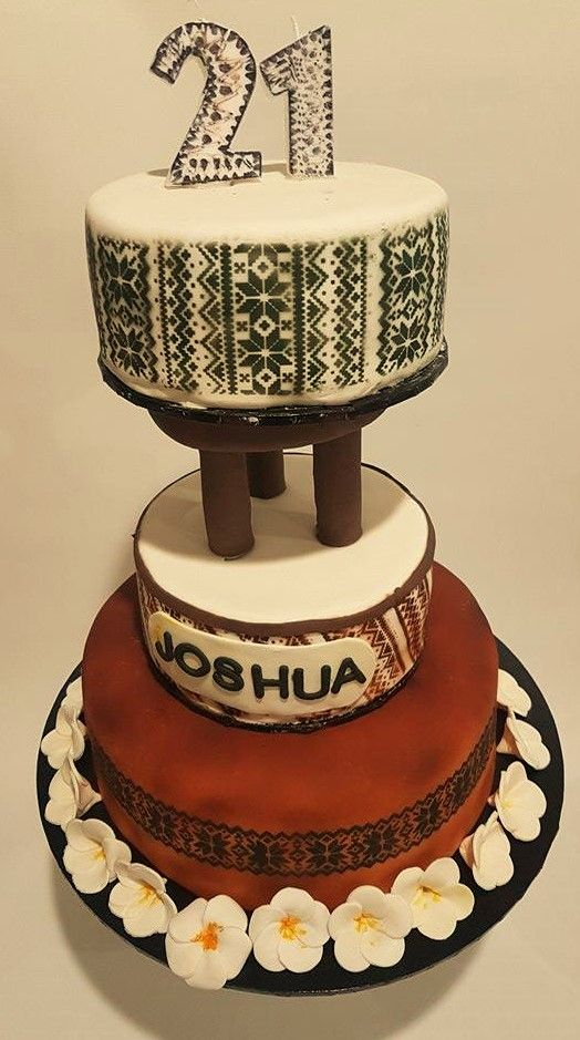 samoan wedding cake designs themed cake with custom made traditional kava bowl 19638