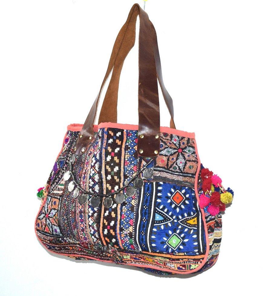 Wholesale Leather Banjara Bag Manufacturer Bohemian Banjara Handbag Hippie Tribal Bag Banjara Tote Bag Wholesale Leather Bag Bags Tribal Bags Boho Bag