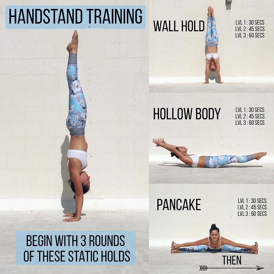 Na Dannom Izobrazhenii Mozhet Nahoditsya Odin Ili Neskolko Chelovek I Tekst Yoga Handstand Handstand Training Flexibility Workout
