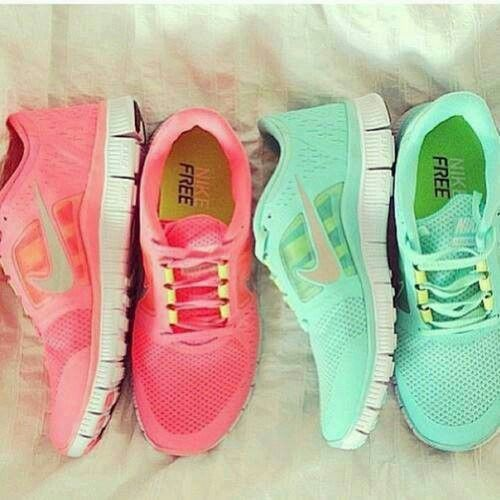 hot sale online 60849 6ba40 Running Nike Free Neon Coral Pink Mint Tiffany Light