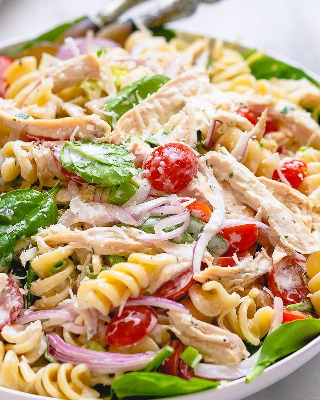 Pasta Salad Recipes 7 Healthy Pasta Salad Ideas Perfect for a Potluck or Cold Meal prep  Eatwell101 Spinach is a dark green leafy vegetable that belongs to the family of...