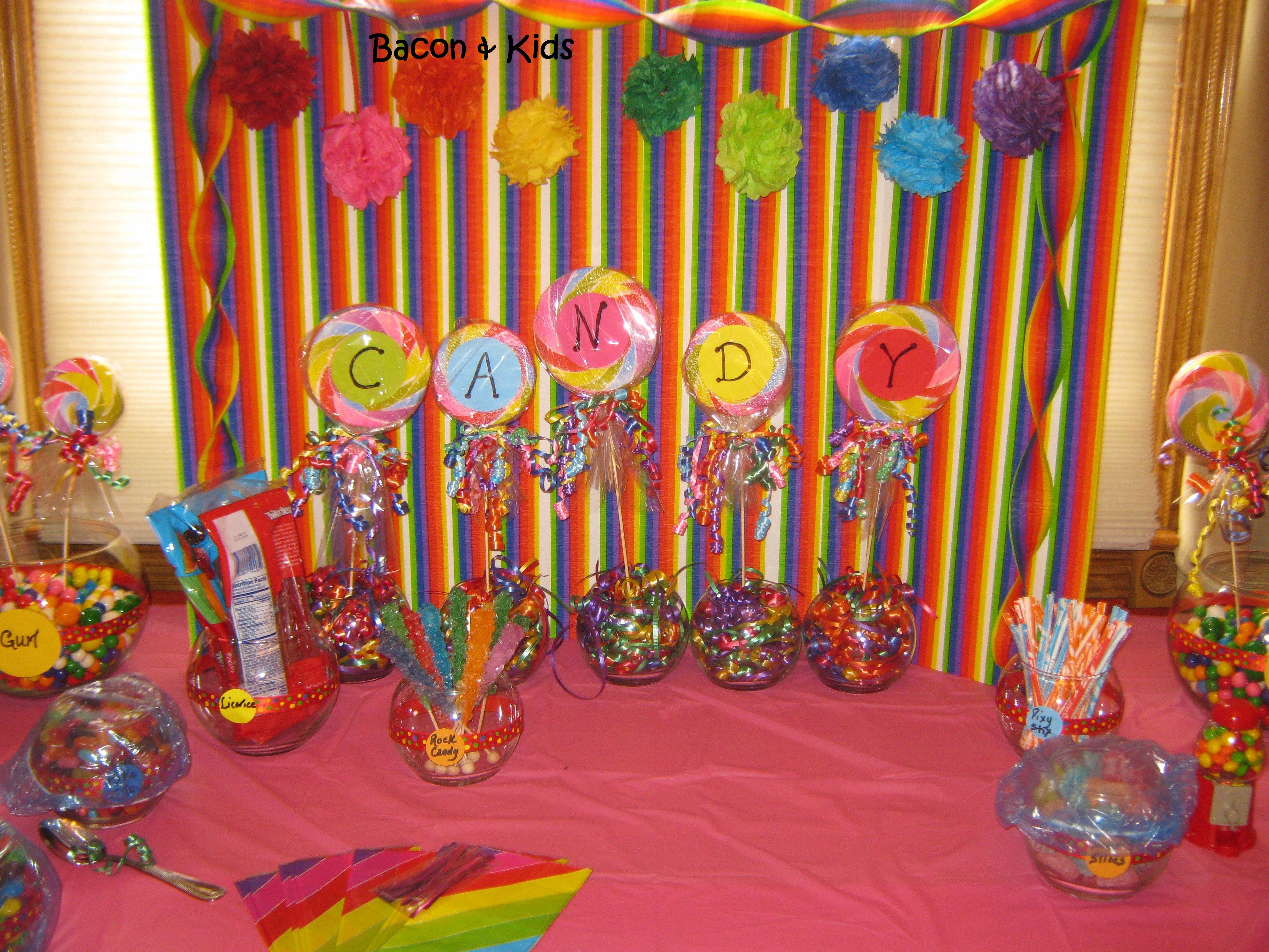 Candy Party Making The Decorations Candy Themed Party Candy