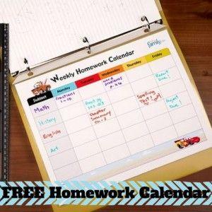 MamaCheaps.com: Free Printable CARS Weekly Homework Calendar