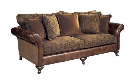 Leather Sofa With Cloth Cushions Bernhardt Henri Sofa Fabric