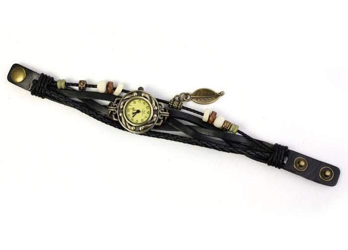 Teen / Girls Vintage Weave Leather Wrist Watch