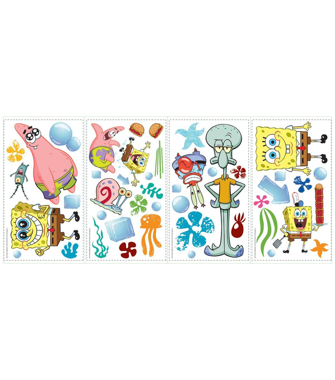 York Wallcoverings Peel & Stick Wall Decals Spongebob