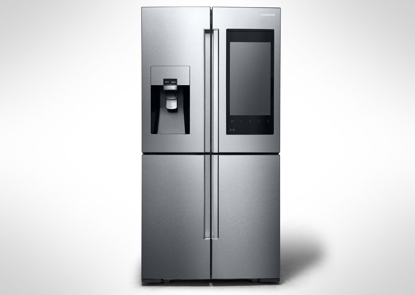 Huge Refrigerator Samsungs Latest Smart Fridge Has Cameras And A Huge Display