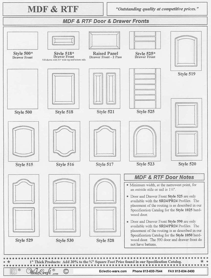 Walzcraft Industries Rtf Rigid Thermal Foil Cabinet Doors Kitchen