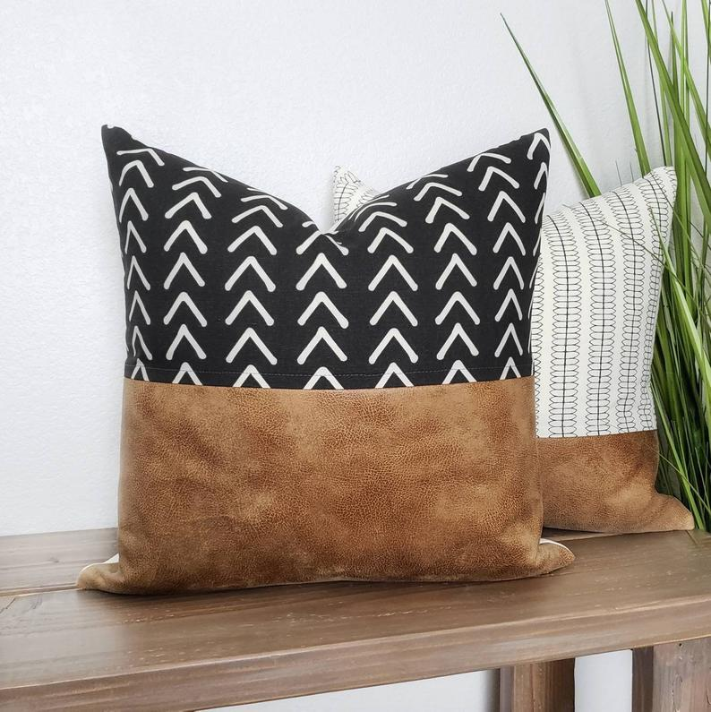 Decorative Leather Throw Pillows