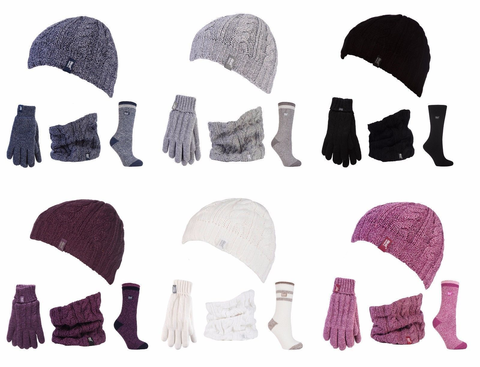 797a4fd2083 Heat Holders - Womens Knitted Thermal Hat Gloves