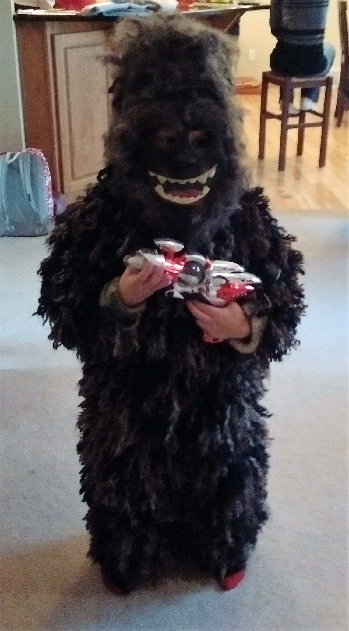 DYI Bigfoot costume I got my inspiration from the costume in the link shared below. I sewed pieces of yarn onto an old costume and bushed out the yarn to ... & Bigfoot - Halloween Costume Contest at Costume-Works.com | Pinterest ...