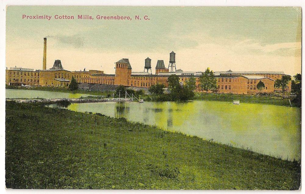 Early postcard greensboro nc proximity cotton mills