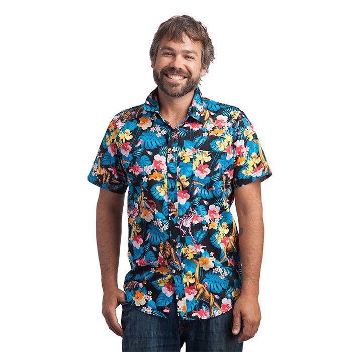 1021a38f Jurassic Park Fossil Print Button-Down Shirt | menswear | Dinosaur shirt, Jurassic  Park, Shirts