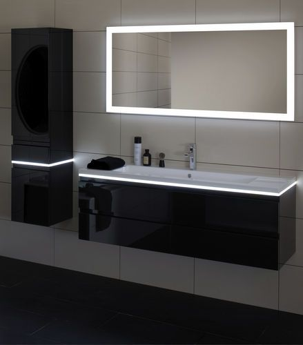 eclairage indirect bandeau led sur miroir sdb eclairage pinterest miroir lumineux led. Black Bedroom Furniture Sets. Home Design Ideas