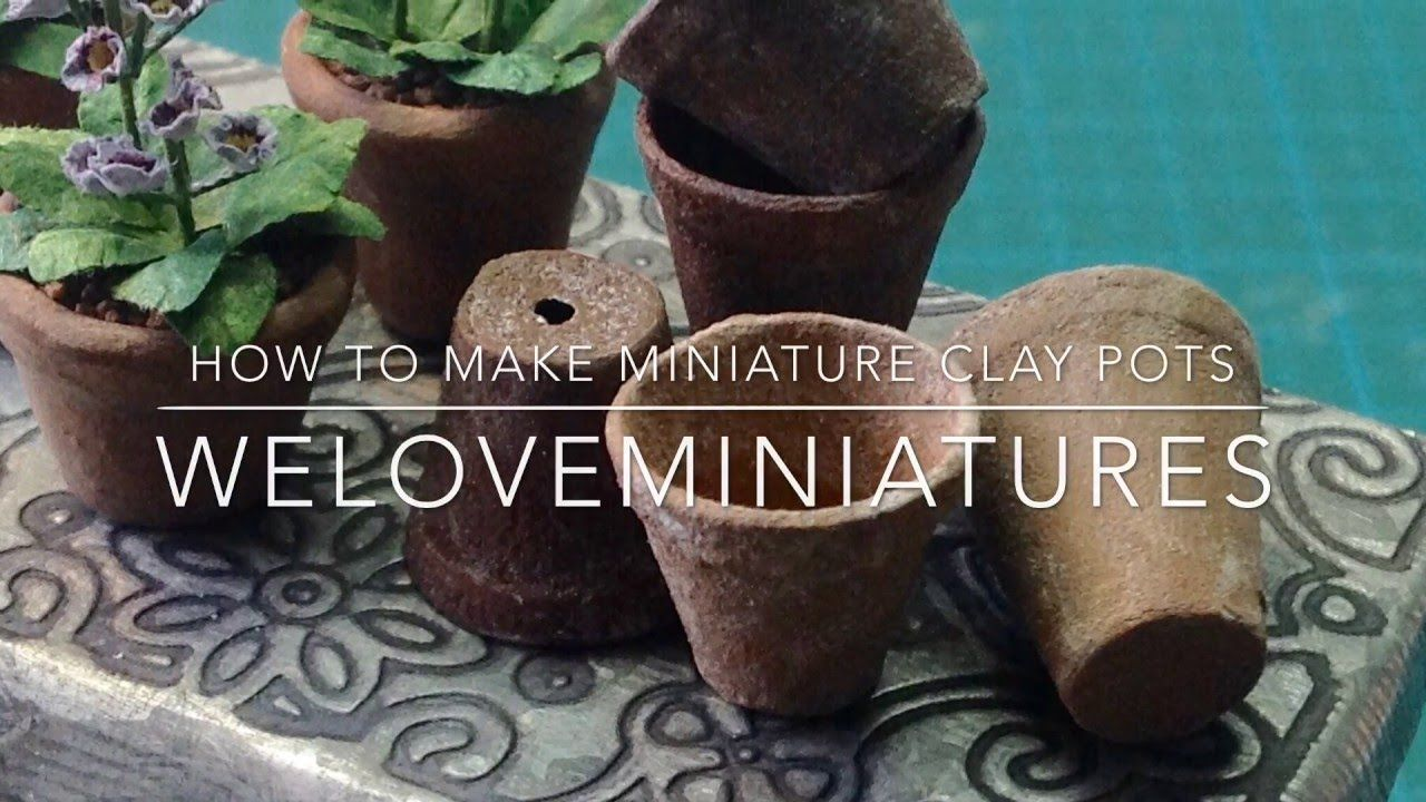 How To Make Miniature Clay Pots Miniature Clay Pots Clay Pots Miniatures