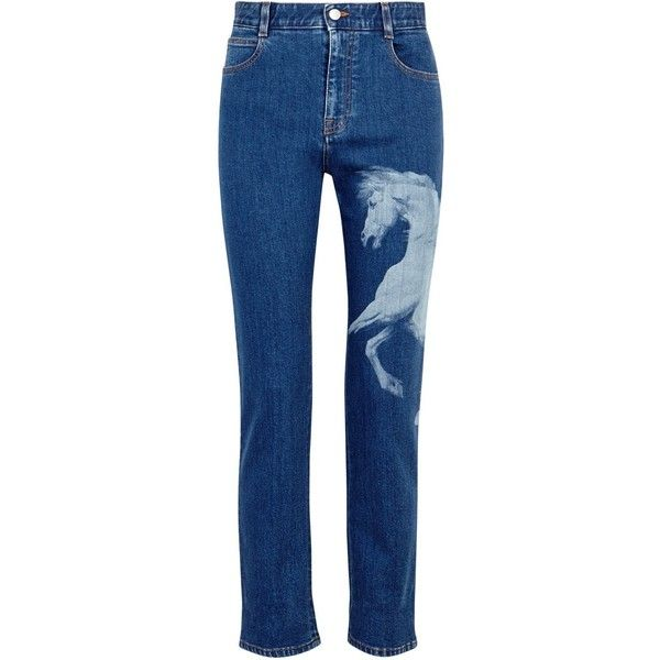 Printed Slim Boyfriend Jeans - Mid denim Stella McCartney Buy Online New Buy Cheap Choice nFjsJ3wu