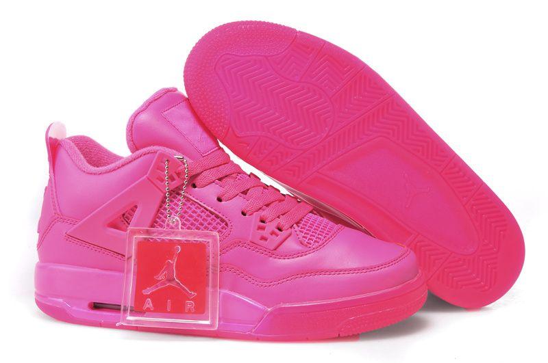 detailing 310c5 b46a4 ... Online For Sale Cheap Girls Air Jordan 4 All Vivid Pink Women Air Jordan  4 ...