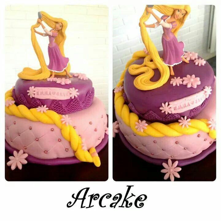 Raiponce cake gateau raiponce pinterest gateau raiponce cake et g teau p te sucre - Bebe raiponce ...