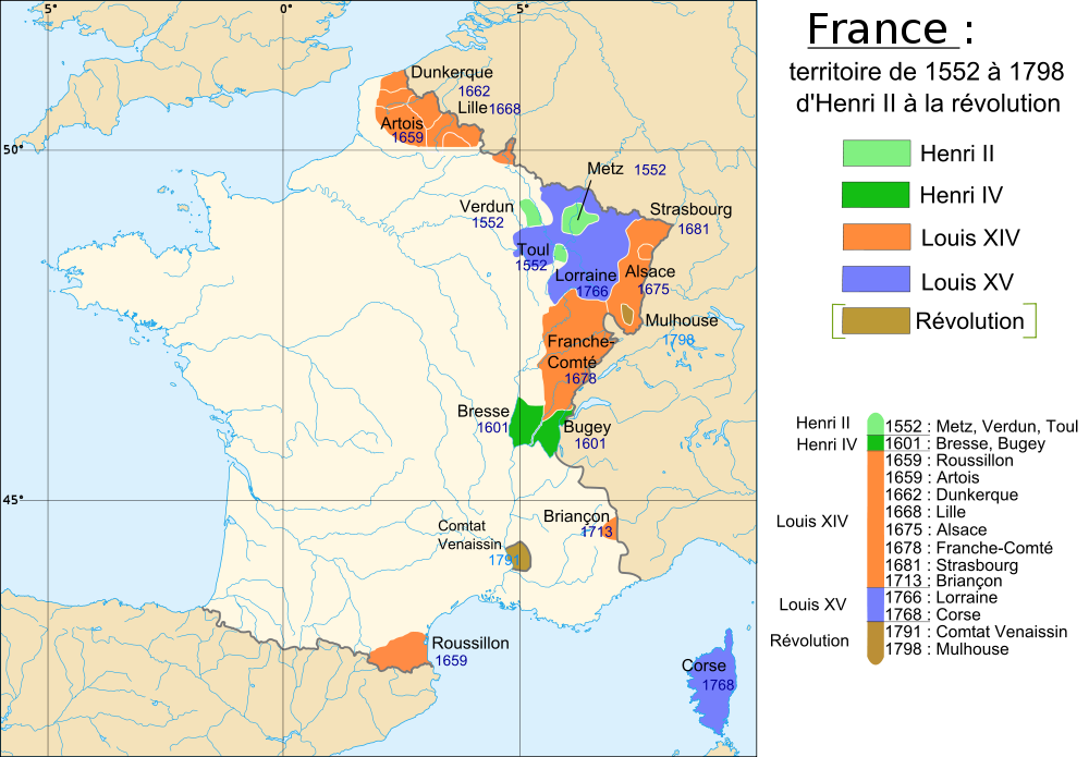 (1552-1791) Territorial Growth of France