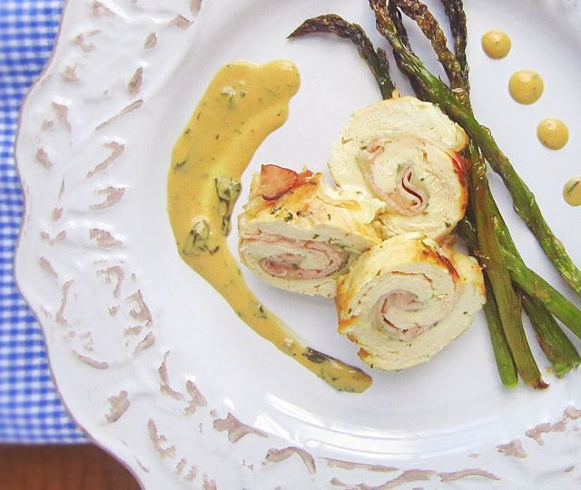 Ham and Swiss Chicken Roulades with Meyer Lemon Cream Sauce @ASpoonfulofLuxe