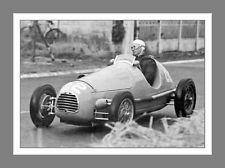 *A 10 x 8 Mtd photo of  Juan Manuel Fangio, 1948 French Grand Prix,