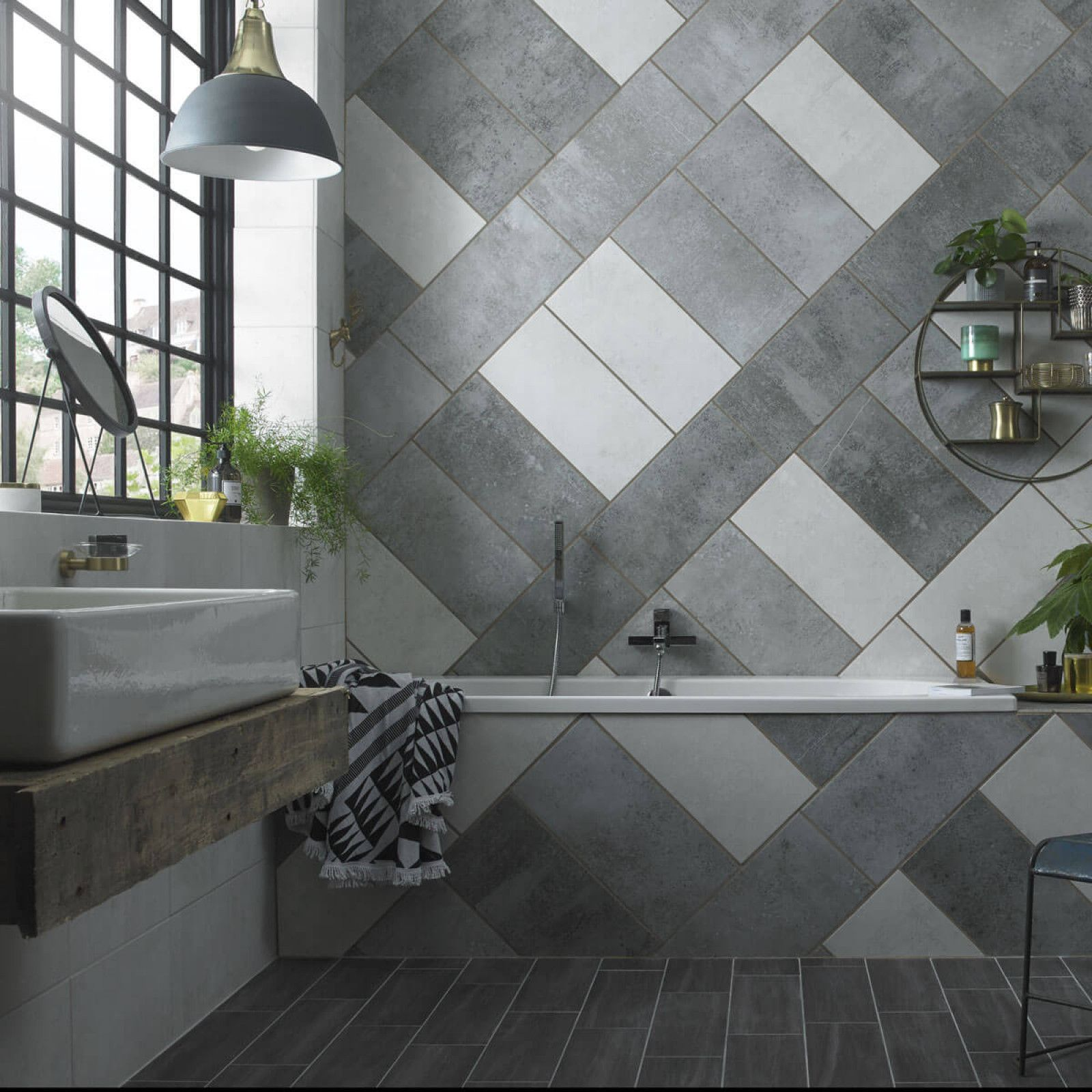 HD (With images) | Top bathroom design, Grey tiles, House ...