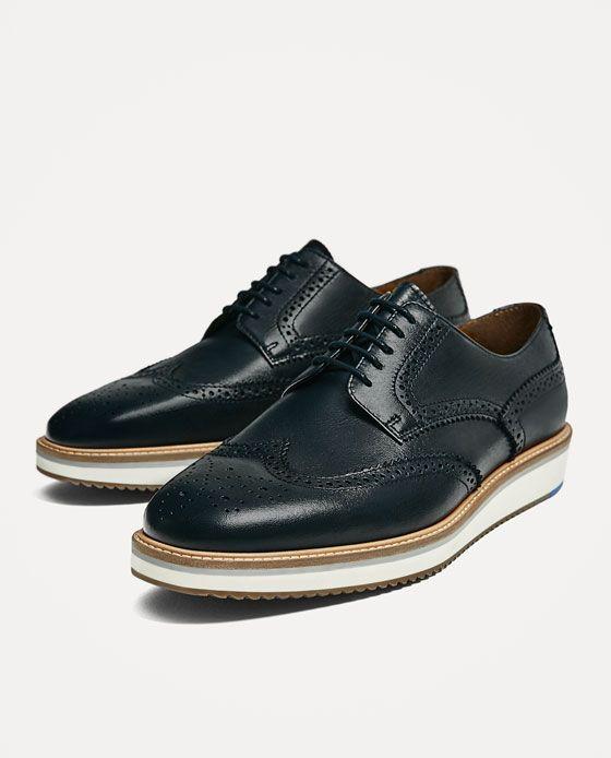 Zapatos Cuña Azul Piel Zapato Zapatos Y Hombre 6xOwtgnq0p